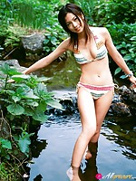 Misako Yasuda Asian shows sexy legs in sexy ways even in hay