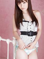 Maho Kiruma Asian in cute outfit shows hot bum in bikini on bed