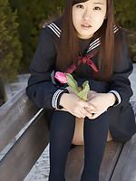 Teen Kana Yuuki is schoolgirl with nice face and slender figure